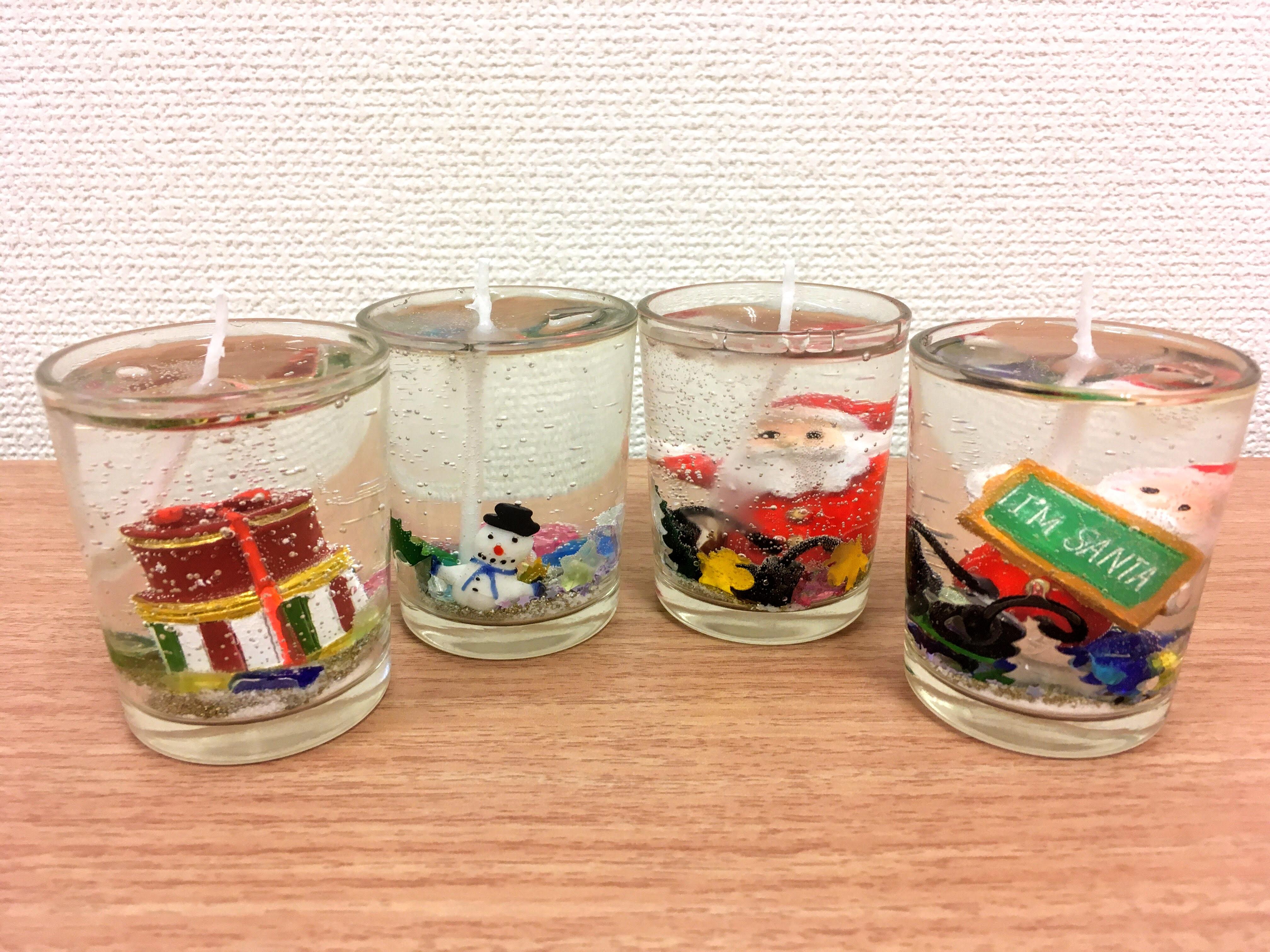 スタジオそら北沢の子どもたちが作成したクリスマスキャンドル