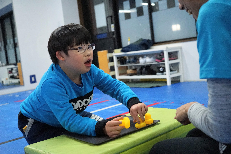 ダウン症のある子どもの療育の様子